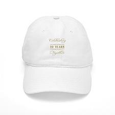 Celebrating 10 Years Together Baseball Cap
