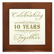 Celebrating 10 Years Together Framed Tile