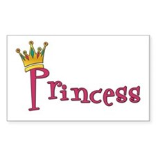 Princess Rectangle Decal