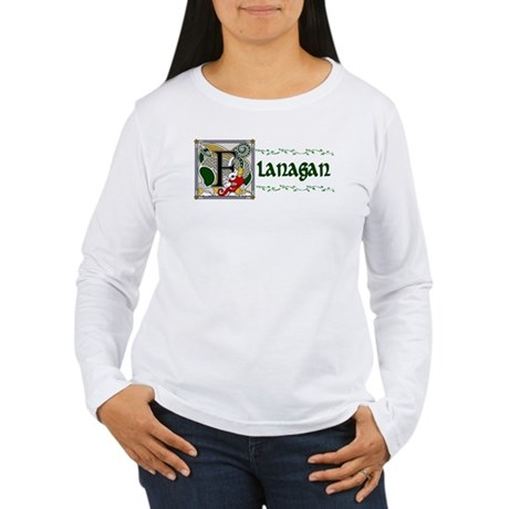 Flanagan Celtic Dragon Women's Long Sleeve T-Shirt