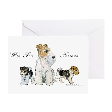 Fox Terrier Family Greeting Cards (Pk of 10)