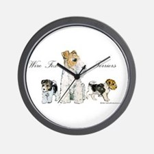 Fox Terrier Family Wall Clock