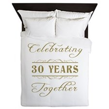 Celebrating 30 Years Together Queen Duvet