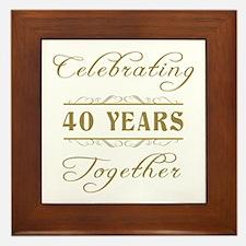 Celebrating 40 Years Together Framed Tile