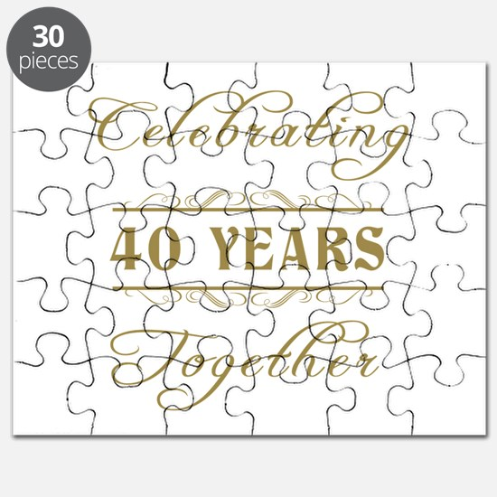 Celebrating 40 Years Together Puzzle