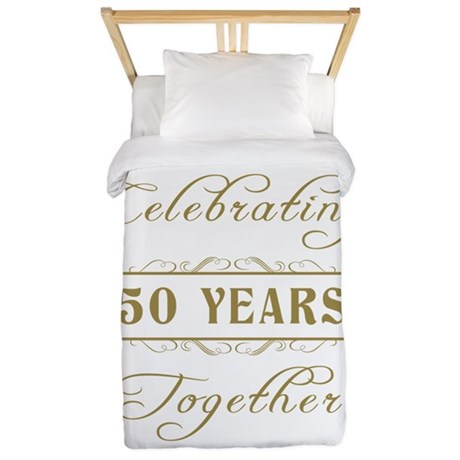 Celebrating 50 Years Together Twin Duvet