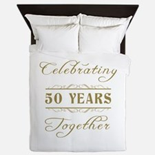 Celebrating 50 Years Together Queen Duvet