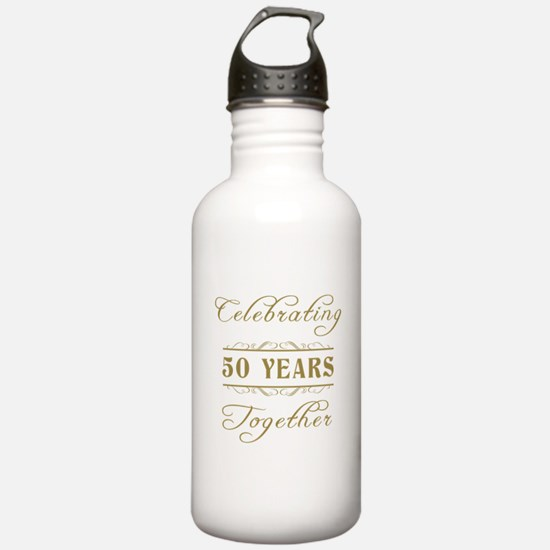 Celebrating 50 Years Together Water Bottle