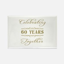 Celebrating 60 Years Together Rectangle Magnet