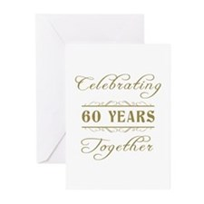 Celebrating 60 Years Together Greeting Cards (Pk o