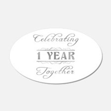 Celebrating 1 Year Together Wall Decal
