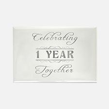 Celebrating 1 Year Together Rectangle Magnet