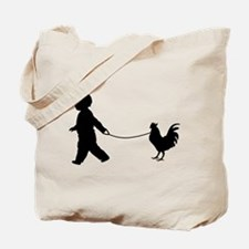 Baby and Chicken black Tote Bag