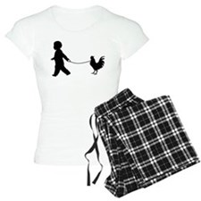 Baby and Chicken black Pajamas