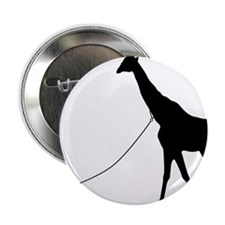 "Baby and Giraffe black 2.25"" Button"