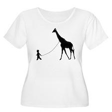 Baby and Giraffe black Plus Size T-Shirt