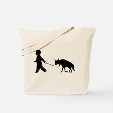 Baby and Hyena black Tote Bag