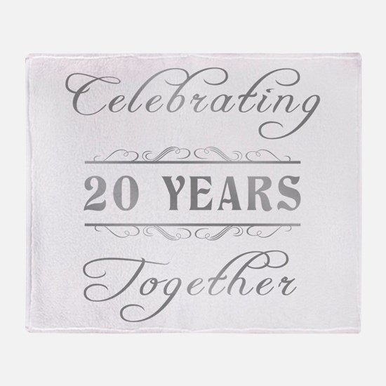 Celebrating 20 Years Together Throw Blanket