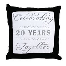Celebrating 20 Years Together Throw Pillow