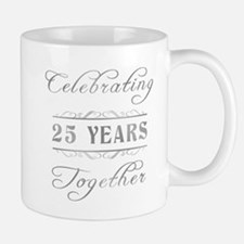 Celebrating 25 Years Together Small Small Mug