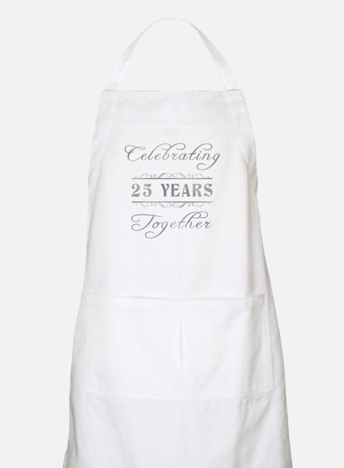 Celebrating 25 Years Together Apron
