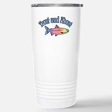 Trout Fishing Word Play Travel Mug