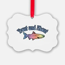Trout Fishing Word Play Ornament