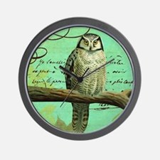 Vintage French owl Wall Clock