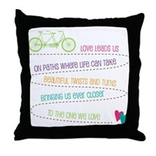 Love For Two Bicycle Throw Pillow
