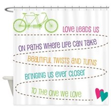 Love For Two Bicycle Shower Curtain