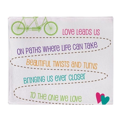 Love For Two Bicycle Throw Blanket