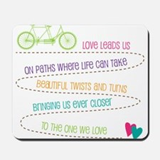 Love For Two Bicycle Mousepad