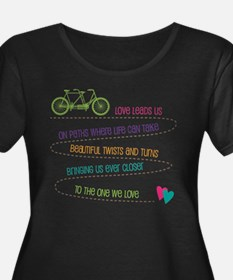 Love For Two Bicycle Plus Size T-Shirt