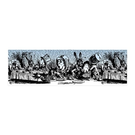 Vintage Alice Border Blue 20x6 Wall Decal