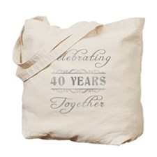 Celebrating 40 Years Together Tote Bag