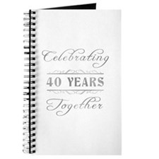 Celebrating 40 Years Together Journal