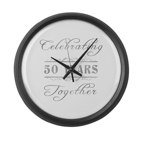 Celebrating 50 Years Together Large Wall Clock