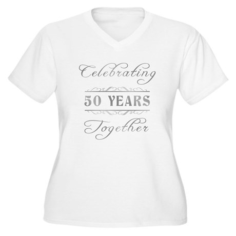 Celebrating 50 Years Together Women's Plus Size V-