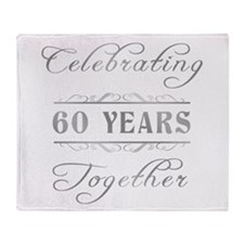 Celebrating 60 Years Together Throw Blanket