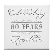 Celebrating 60 Years Together Tile Coaster
