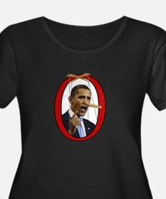 Pinocchiobama Plus Size T-Shirt