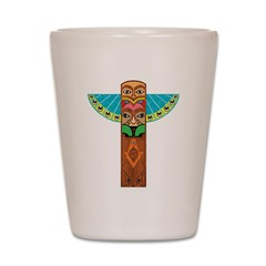 Native American Brothers Shot Glass