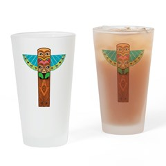 Native American Brothers Drinking Glass