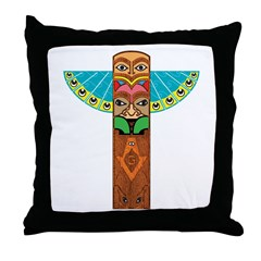 Native American Brothers Throw Pillow