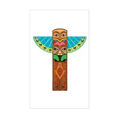 Native American Brothers Sticker (Rectangle)