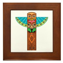 Native American Brothers Framed Tile