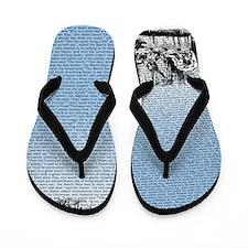 Vintage Alice Border Blue Flip Flops