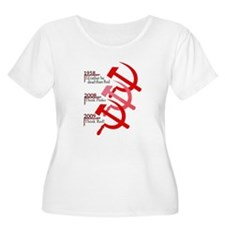 Russian Hammer And Sickle Emblem Plus Size T-Shirt