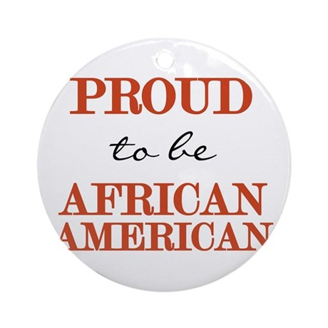 African American Pride Ornament (Round)