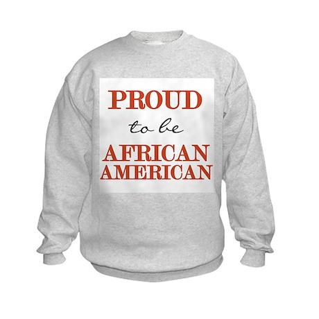 African American Pride Kids Sweatshirt